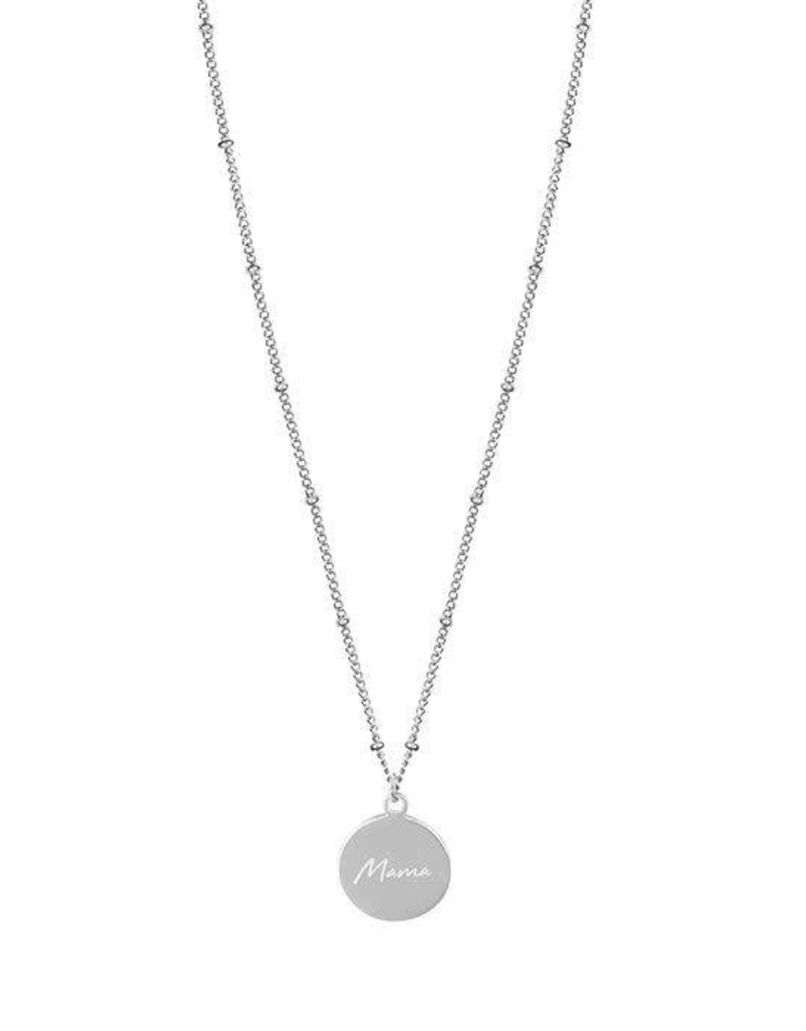 My Jewelry Ketting dots charm 'Mama'-silver