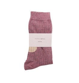 Monk & Anna Socks WOMAN Glitter Stripes-burgundy