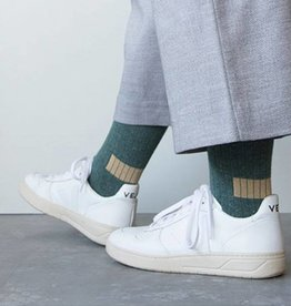 Monk & Anna Socks WOMAN Glitter Stripes-forest green