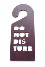 Double Stitched Doorhanger DISTURB-chocolate brown