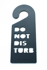 Double Stitched Doorhanger DISTURB-carbon black