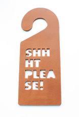 Double Stitched Doorhanger SHHHT-cognac