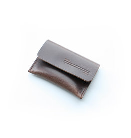 Double Stitched Card Holder Flap-concrete