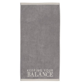 Räder Handdoek Keeping your Balance-grey/beige