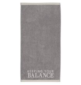 Räder Handdoek Keeping your Balance-grey/beige