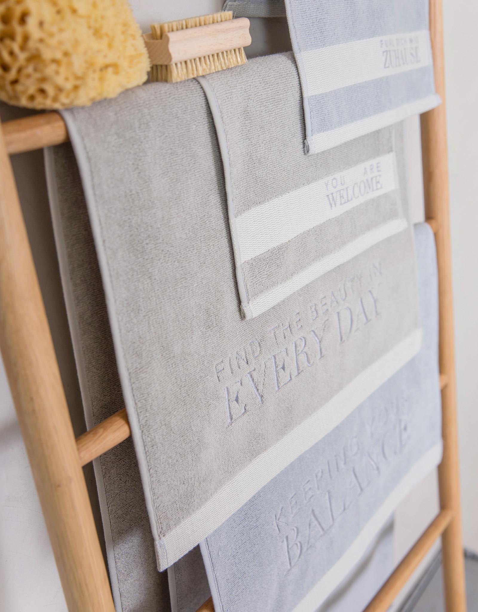 Räder Handdoek 50x100cm Keeping your Balance-grey/beige