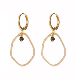 Jules Bean Oorbellen Elin drops-gold/peacock pearl