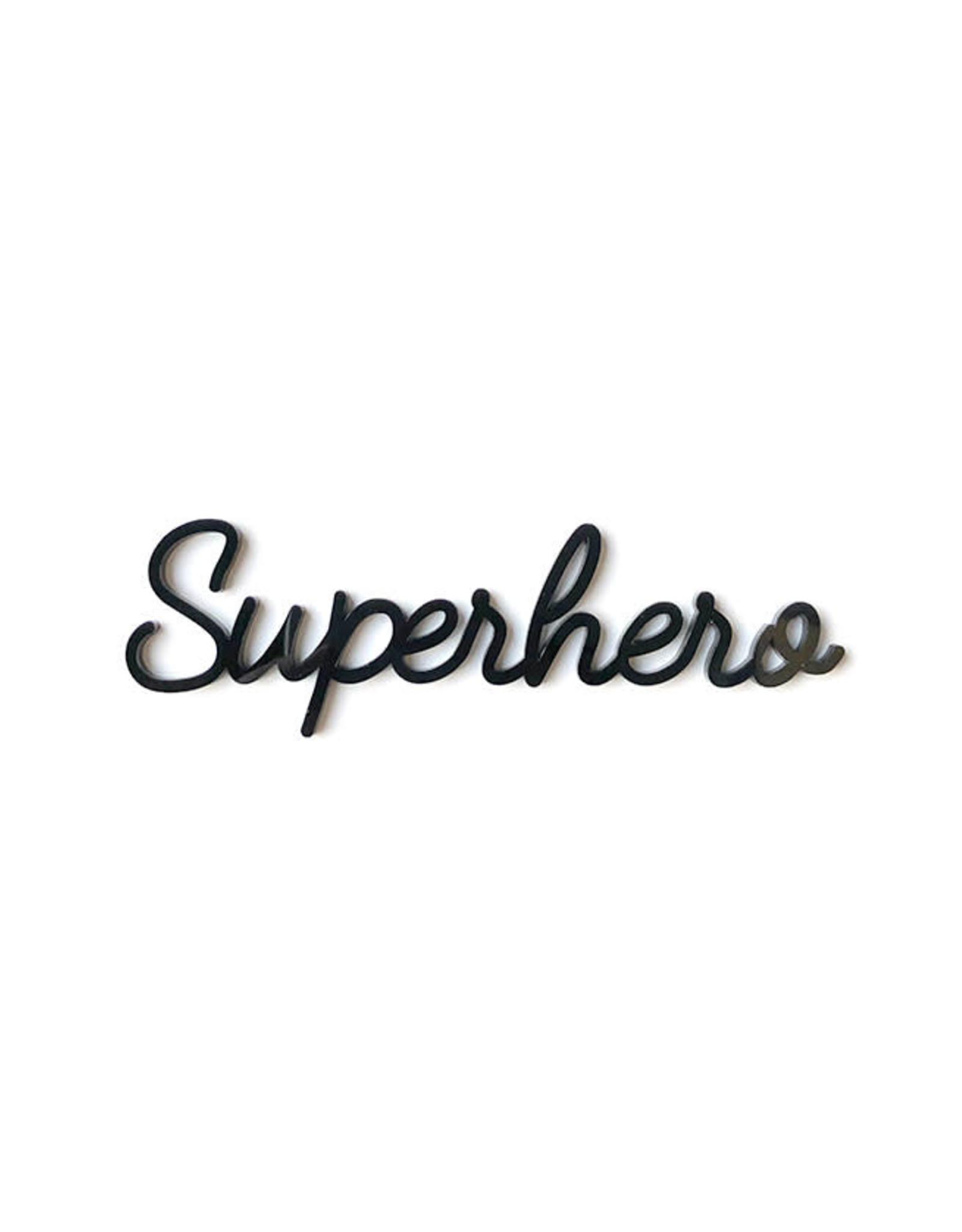 Goegezegd Quote Superhero-black