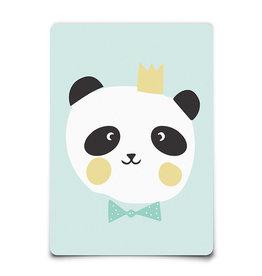 Wenskaart-king panda