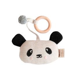 Rattle knitted-panda