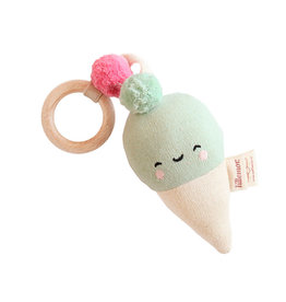 Rattle knitted-ice cream