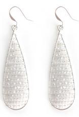 Hinth Oorbellen drop silverframe-shiny white