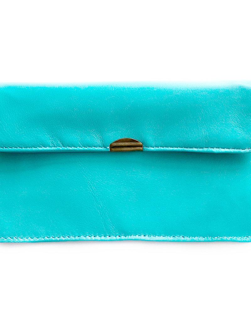 Flat Wallet-aqua blue