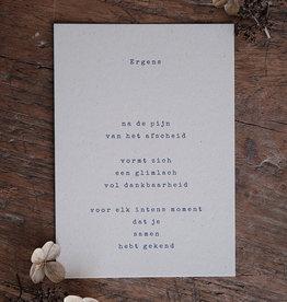 Caduc Afscheidskaart met bloemen enveloppe-ergens