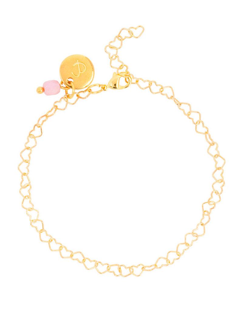 &anne Armband Heart chain-gold