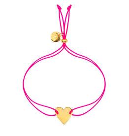 &anne Armband Satin Heart-neon pink