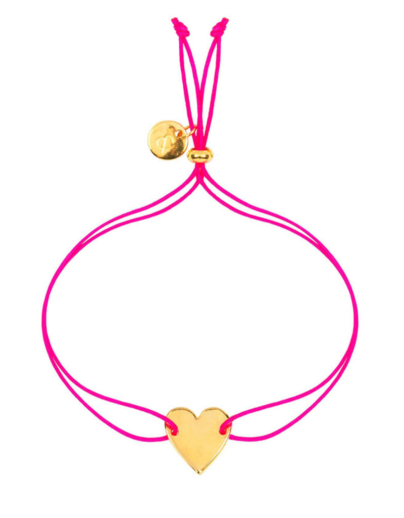 &anne Armband Satin Heart-neon pink