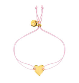 &anne Armband Satin Heart-roze