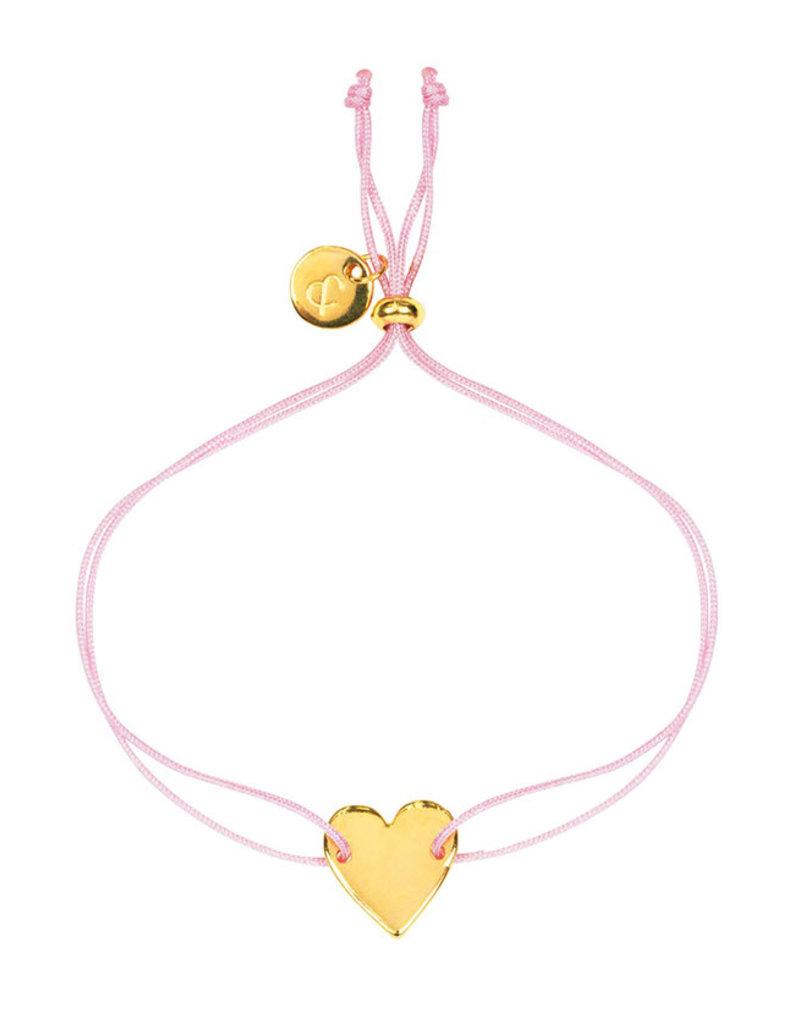 &anne Armband Satin Heart-roze
