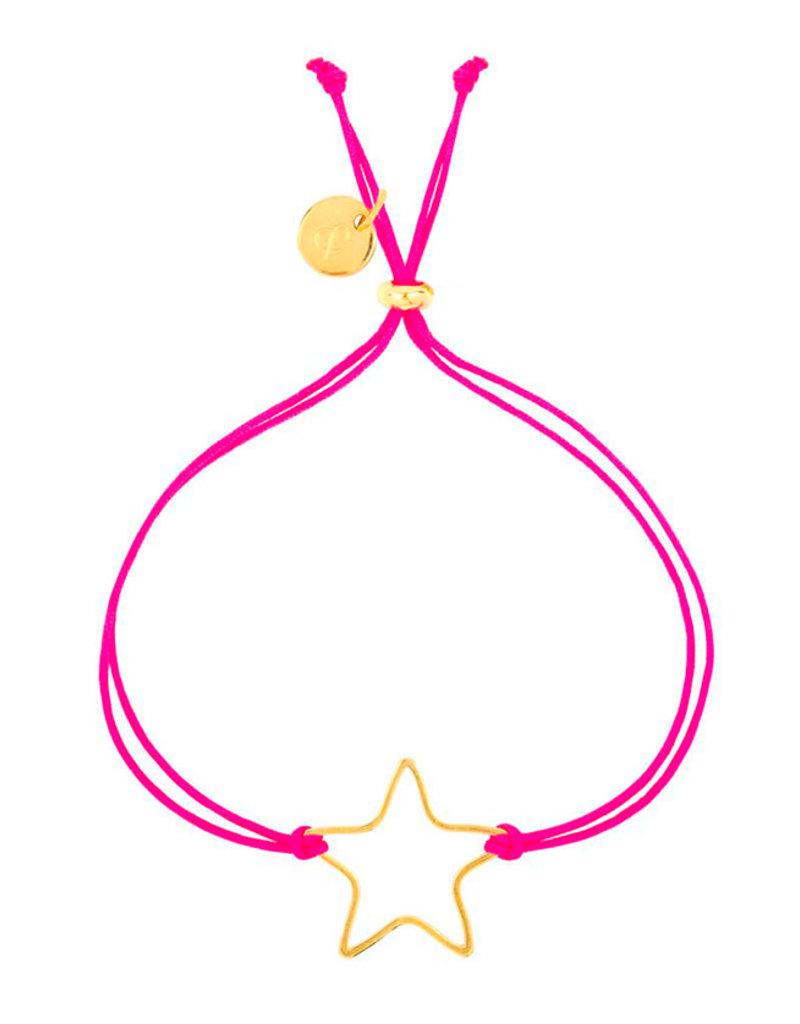 &anne Armband Satin Star-neon pink