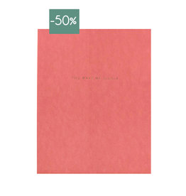 Monk & Anna A3 Poster You make me giggle-blushy red/goldfoil