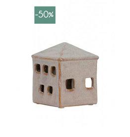 Windlicht House ceramic medium-roze