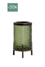 Windlicht Tibor glas-olive