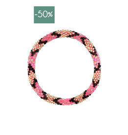 My Jewelry Roll-on armband little beads-pink/black