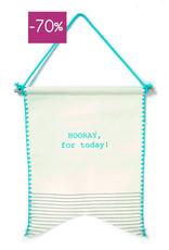 Wimpel vlag in giftbox-Hooray