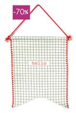 Wimpel vlag in giftbox-Hello
