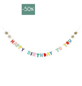 Meri Meri Slinger 2.4meter-Happy Birthday color