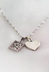 My Jewelry Charm voor ketting Heart 'Je T'aime'-silver