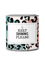 The Gift Label Geurkaars large-Keep shining please (fresh cotton)