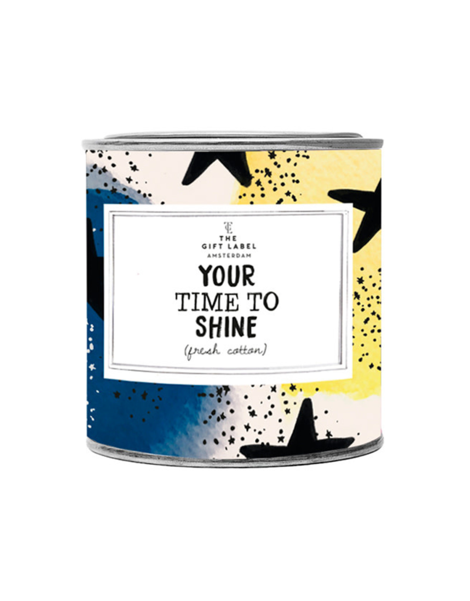 The Gift Label Geurkaars large-Your time to shine (fresh cotton)