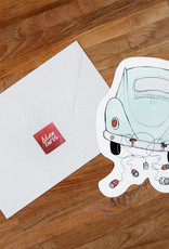 The Gift Label Wenskaart XL Cutout-Car Just Married