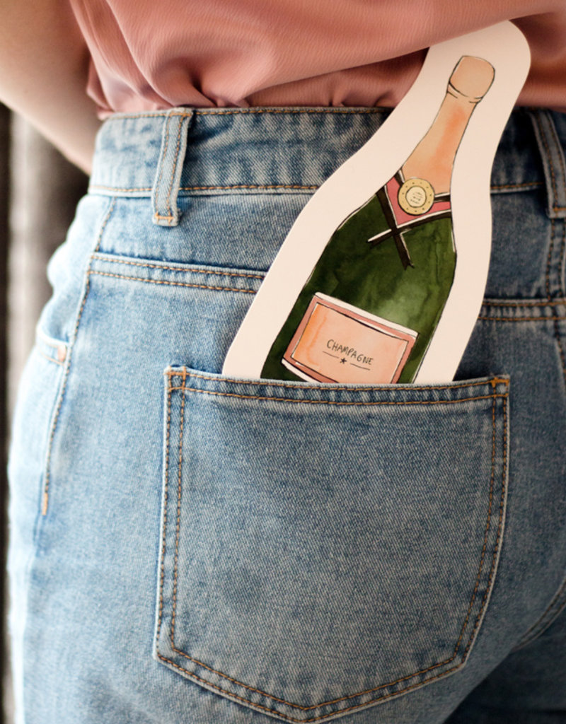 The Gift Label Wenskaart XL Cutout-Champagne