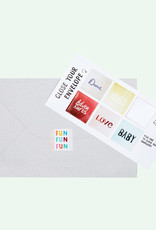 The Gift Label Wenskaart XL Cutout-Rainbow