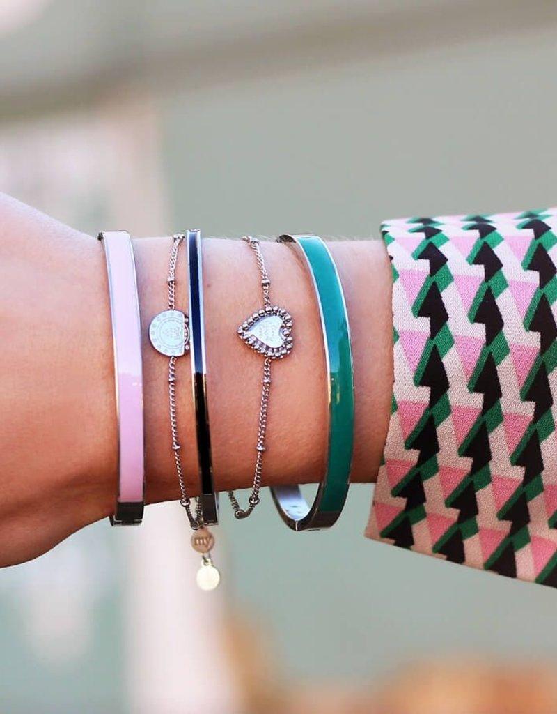 My Jewelry Bangle Summer 5mm-roze/silver