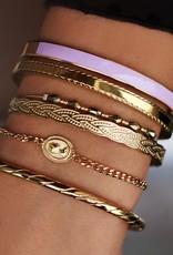 My Jewelry Bangle Cord Pattern-silver