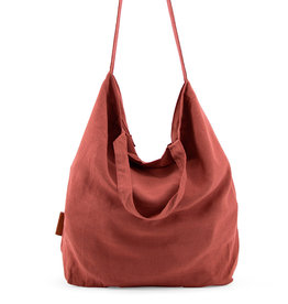 Tinne+Mia Baja Linen Shopper-brick red