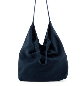 Tinne+Mia Baja Linen Shopper-midnight blue