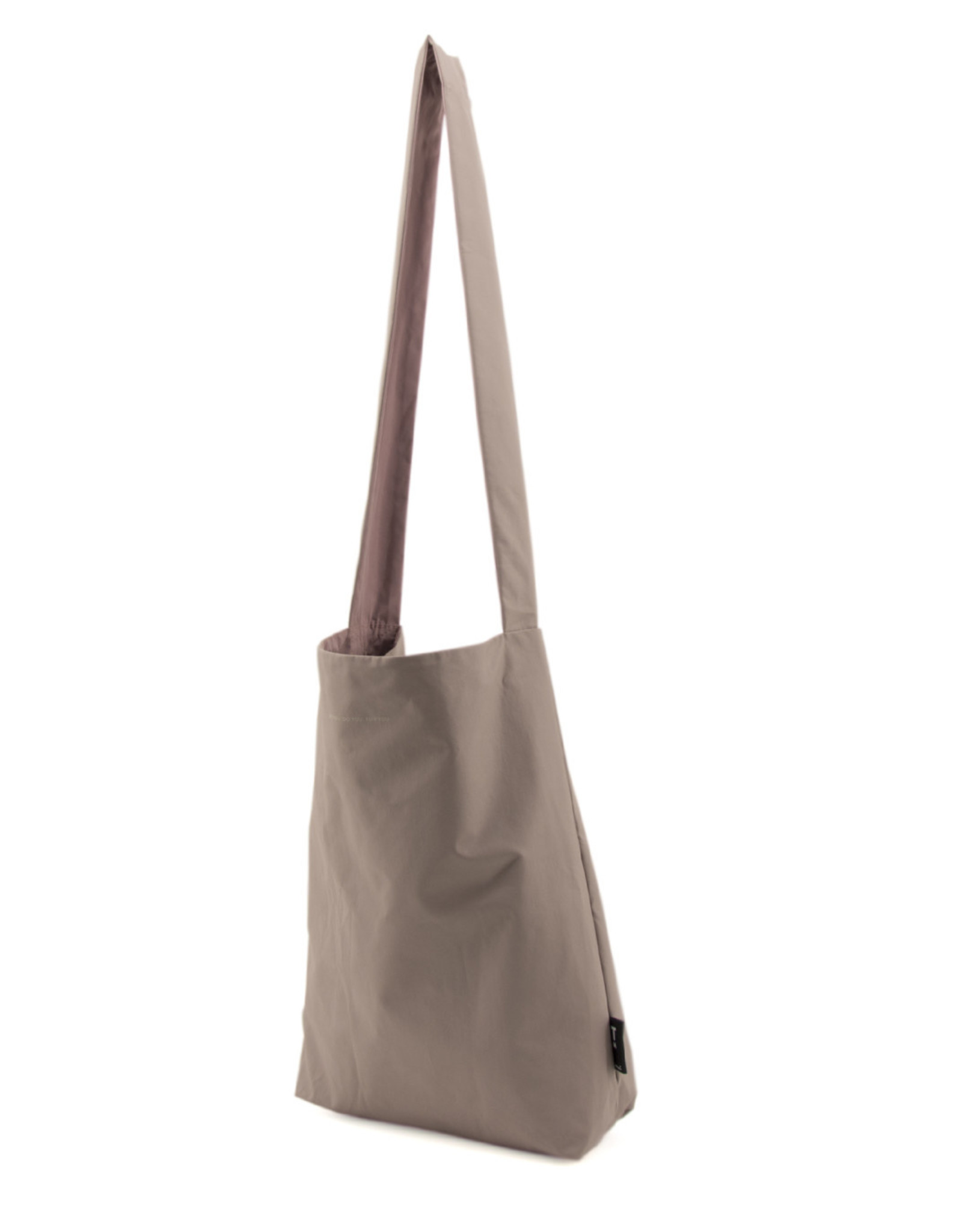 Tinne+Mia Feel Good Bag with quote-mineral grey
