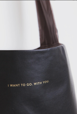 Tinne+Mia Feel Good Bag with quote-black
