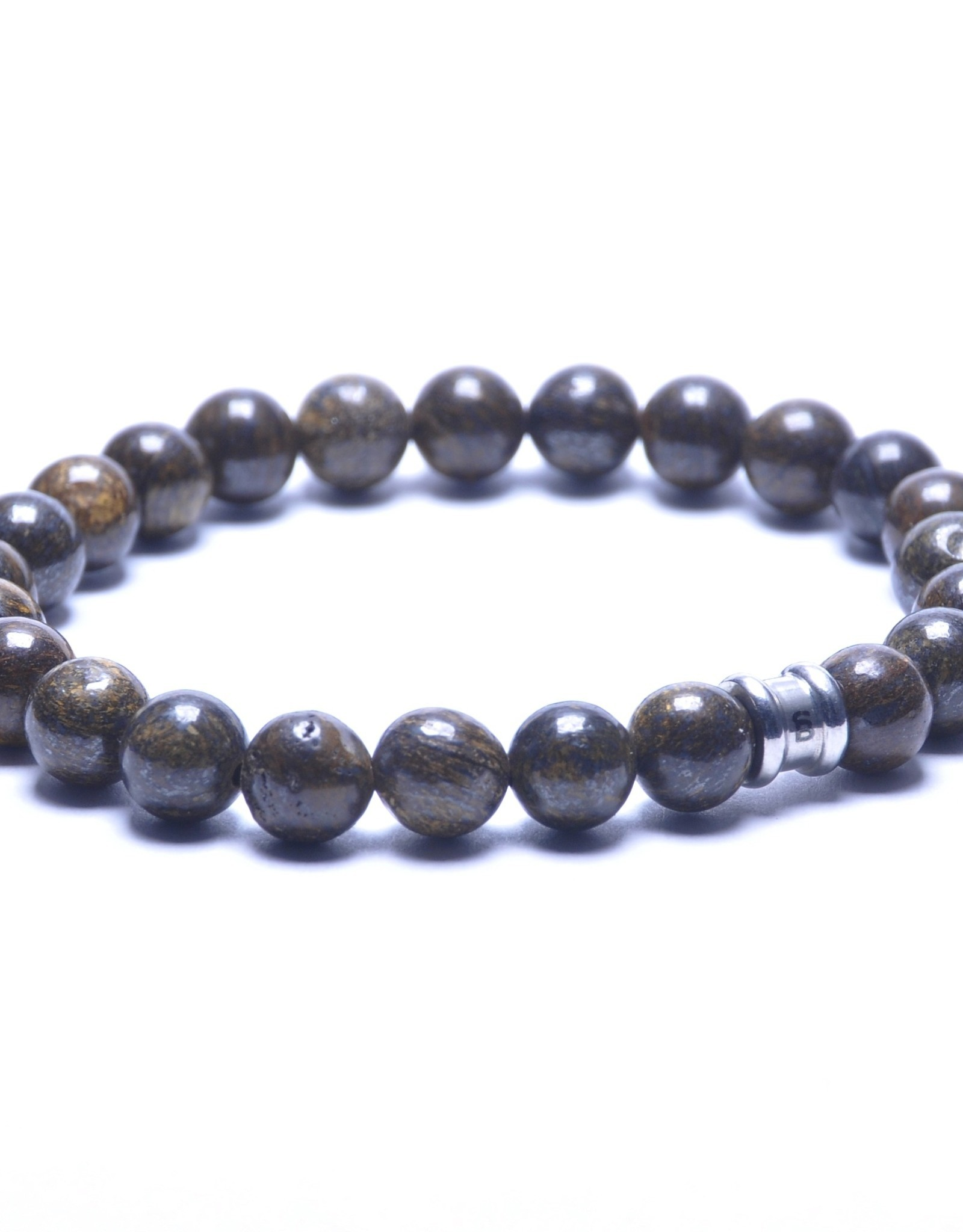Steel & Barnett Men Bracelet Basic Stones-bronzite