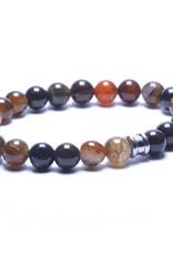 Steel & Barnett Men Bracelet Basic Stones-chocolate