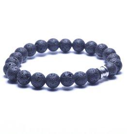 Steel & Barnett Men Bracelet Basic Stones-lava