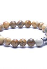 Steel & Barnett Men Bracelet Basic Stones-wood