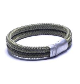 Steel & Barnett Men Bracelet Lake Rope-military green