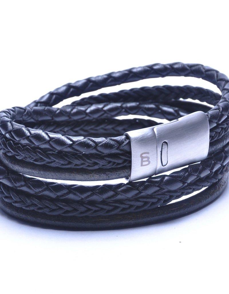 Steel & Barnett Men Bracelet Bonacci Leather-black