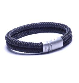 Steel & Barnett Men Bracelet Lake Rope-black